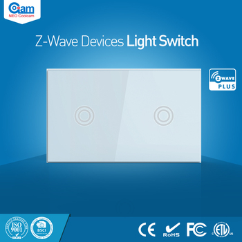 NEO Coolcam Smart Home z wave Plus 2CH US interruptor de luz Compatible con la serie