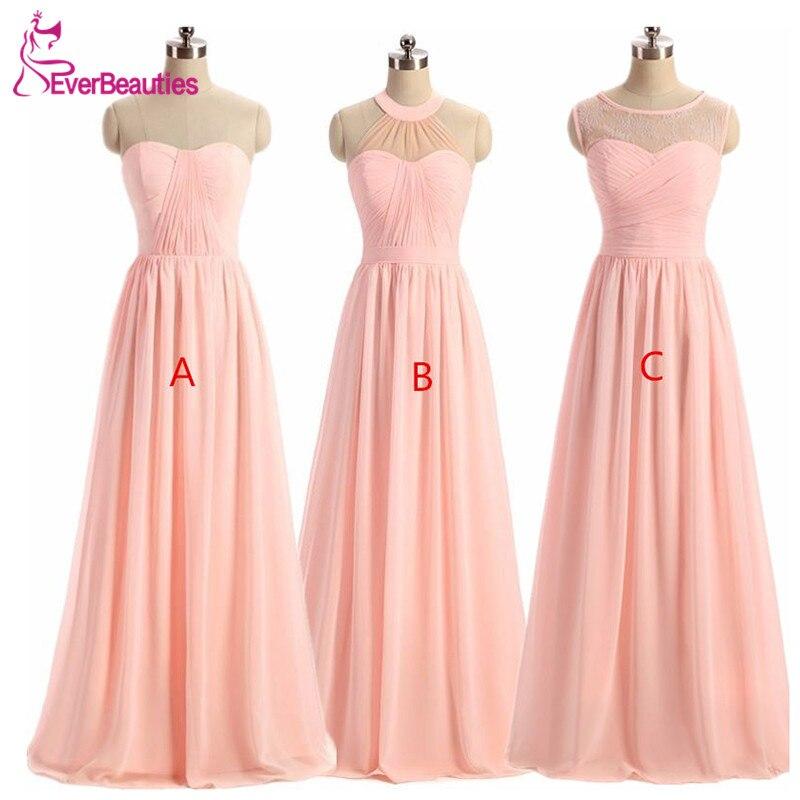 Mujeres Light Pink vestido de dama de 2018 vestido de la dama de ...