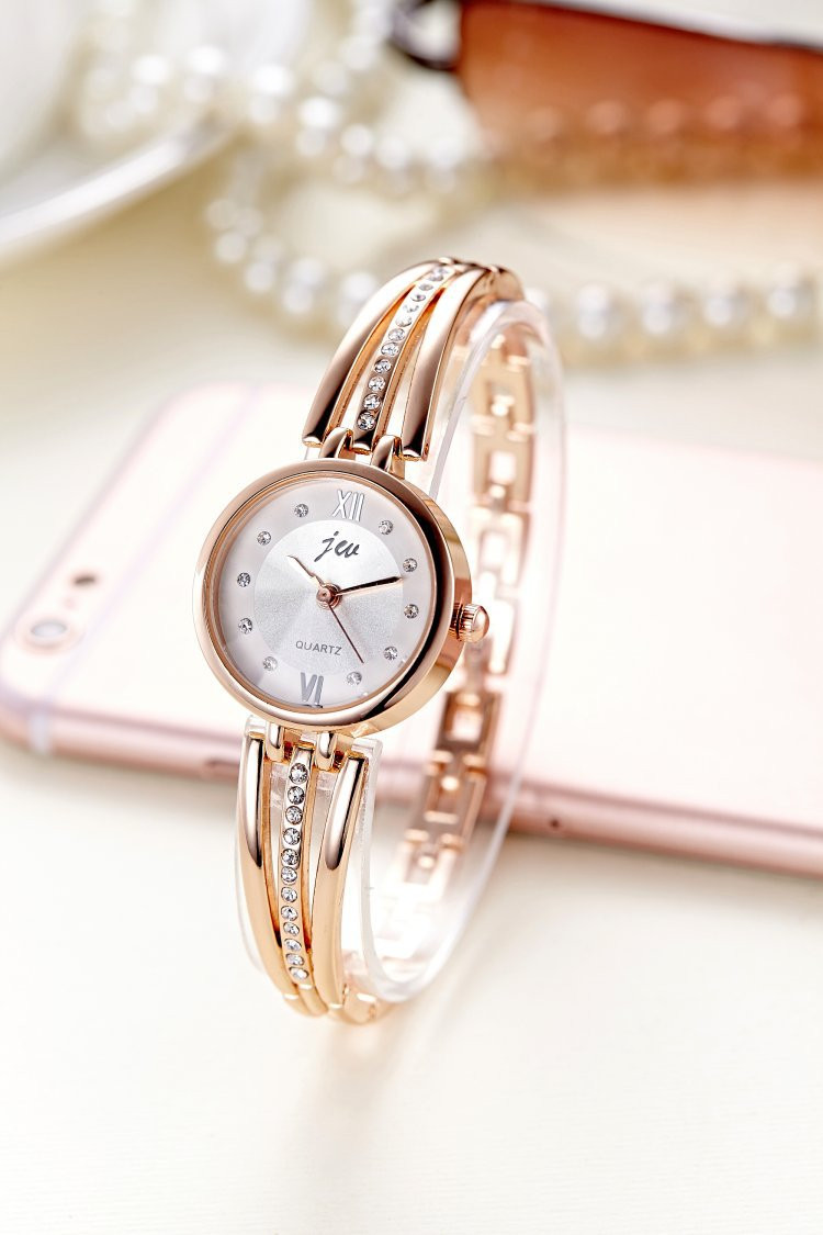 New Fashion Rhinestone Watches Women Luxury Brand Stainless Steel Bracelet watches Ladies Quartz Dress Watches reloj mujer AC070 12