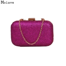 Naivety Fashion Women Clutch Box Evening Party Glitter Chain Handbag Purse  Bolso 15S61229 drop shipping( 1f54dfe6b126