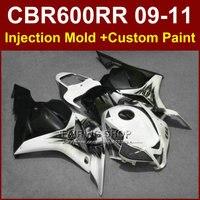 100% FIT customize fairing set for HONDA CBR600RR fairings 2009 2010 2011 cbr600rr ABS white bodykit CBR 600 RR 09 10 11+7Gifts