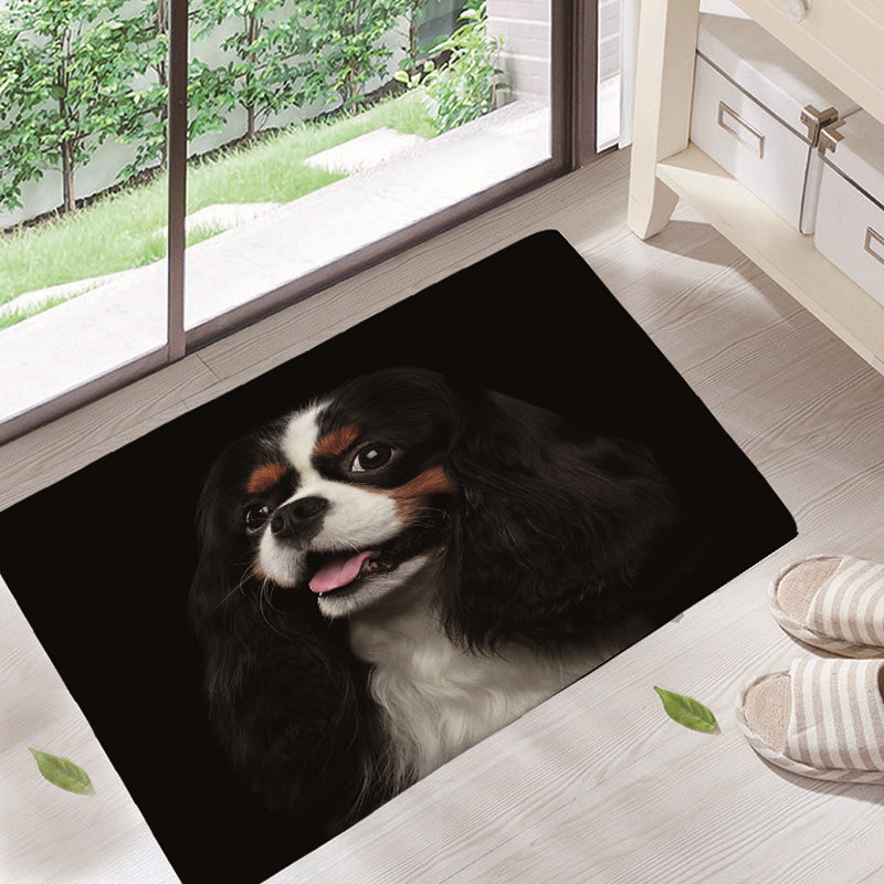 Wrinkle Resistant Cute Pet Dog cat Welcome Home Entrance Door Mat Bichon Frise Dog Mats Living