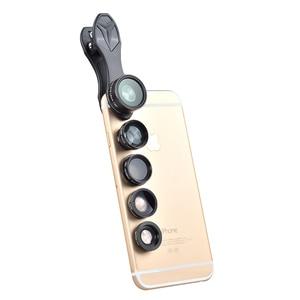 Image 2 - Apexel Optic Lens 198 Fisheye 150 Wide Angle &15x Macro 2X Tele CPL filter Phone Camera Clip Lens for iPhone Xiaomi Samsung DG5