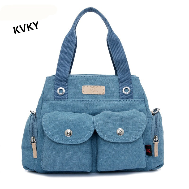 KVKY2017 New Style Fashion Women Tote Handbag Female Shopping Bag Casual Canvas Shoulder Bags Large Capacity Crossbody Bag CH082 weiju new canvas women handbag large capacity casual tote bag women men shoulder bag messenger crossbody bags sac a main