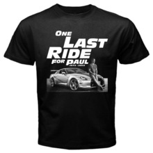 Fast and Furious 7 One Last Ride for Paul Walker T Shirt men