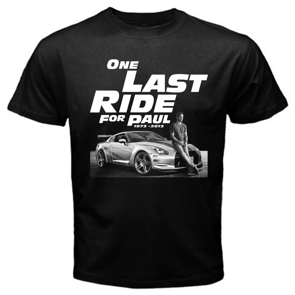 Fast and Furious 7 One <font><b>Last</b></font> Ride for Paul Walker T <font><b>Shirt</b></font> men design t <font><b>shirt</b></font> <font><b>US</b></font> standard plus size S-3XL factory outlet wholesale image