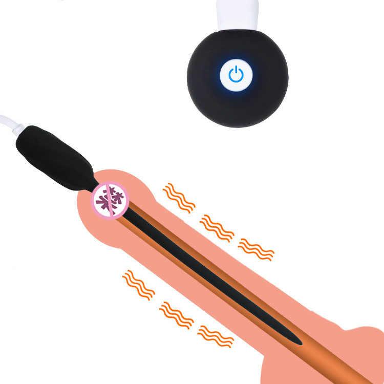 Beginer силиконовый уретральный зонд катетер для ввода в пенис вибратор расширитель мужской мастурбации g-точка стимуляция целомудрия устройство для мужчины
