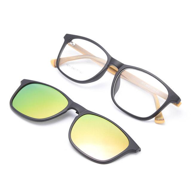 Gmei Optical 1611 Urltra-Leve Óculos TR90 Quadro com Clip-on Polarizado Guarda-sóis para Mulheres e Homens Eyewear