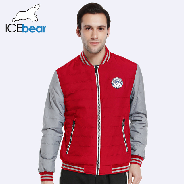 ICEbear 2017 Polyester Two Colors Autumn Spring Men Brand Clothing New Style Quality Short Thin Warm Jackets