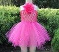 Крючком топ пачки с цветком ребенка ручной работы платье KP-6CTU005