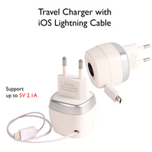 5V 2A USB Travel Wall Charger for iPhone 7 6s 5s 5 for Samsung s6 s5 s4 Xiaomi HTC Phone Charger with Lightning Charge Cable