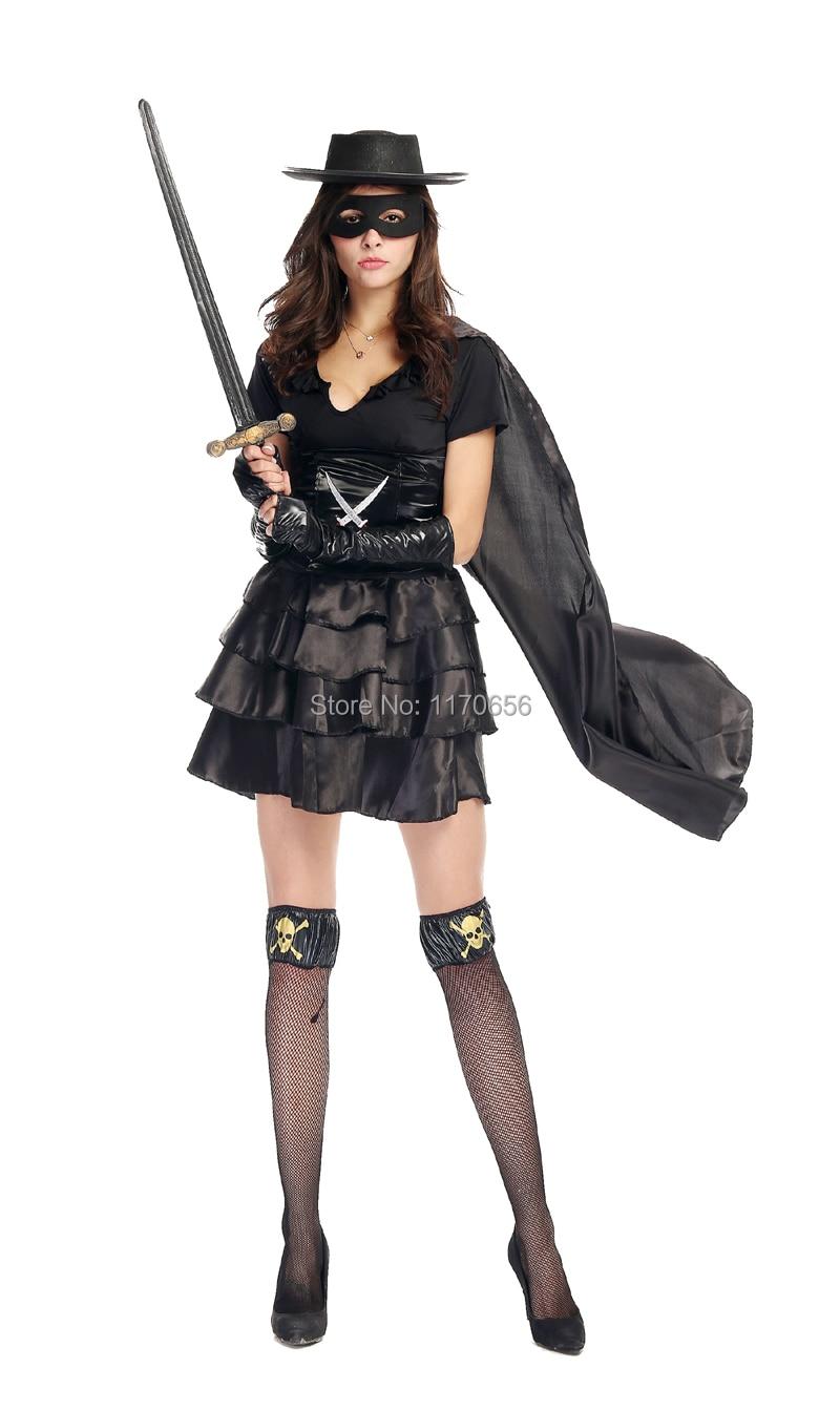 Online Shop 5pcs/set Adult Women Sexy Costume Black Pirates Ninja ...