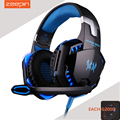 EACH G2000 Over-Ear Cool light effectGaming Headset 2.2m Wired Noise Reduction Stereo Sound Headphone with Light for PC Game
