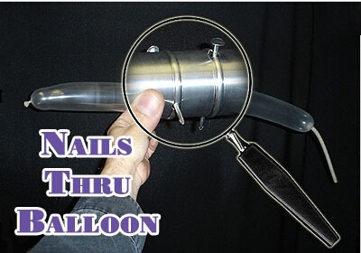 Nails thru Balloon - Aluminum,magic trick,gimmick,accessories,mentalism,comedy,stage