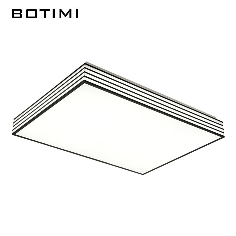 ФОТО BOTIMI modern acrylic Led ceiling lamps lamparas de techo square rectangular ceiling lighting for bedroom dinning room studyroom
