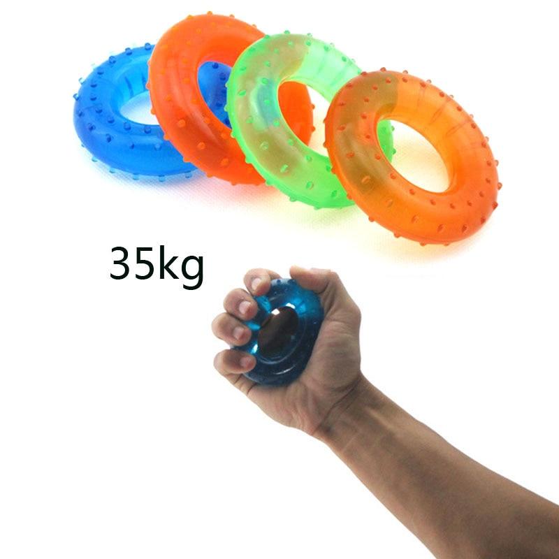 35KG Strength Hand Grip Muscle Power Training Rubber Easy Carrier Hand Grips Fitness Rubber Ring Exerciser Expander Gripper