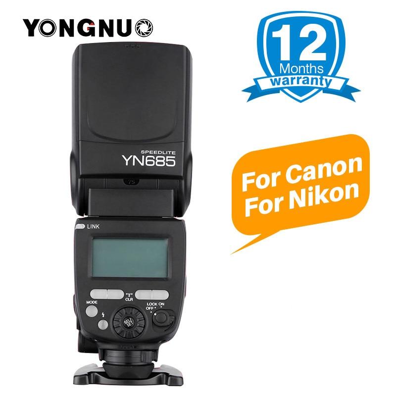 все цены на YONGNUO YN685 E-TTL Flash Speedlite 1/8000s Radio Slave Mode Flash Light YN685C YN685N for Canon Nikon YN622N YN560-TX RF603 II онлайн