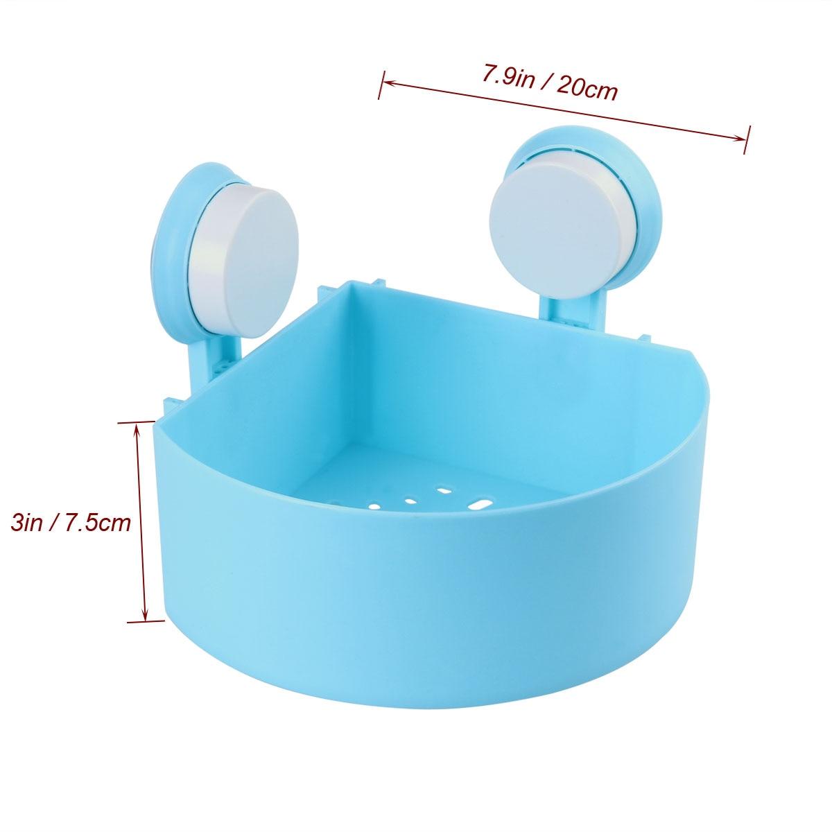Plastic Bathroom Suction Cup Storage Shelf Rack Bath Shower Wall ...