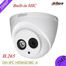 Dahua English Version 2MP IP Camera DH-IPC-HDW4238C-A IP67 H.265 Built in Mic IR-CUT IPC-HDW4238C-A CCTV Security Camera