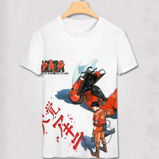 d65d5f85a placeholder Akira Shotaro Kaneda Biker The Capsule Motorcycle Japanese  Anime T-shirt Tee Bro Mens Summer