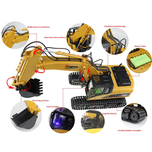 Image 5 - RC Truck Excavator Crawler 15CH 2.4G Remote Control Digger Demo Construction Engineering Vehicle Model Electronic Hobby Toys