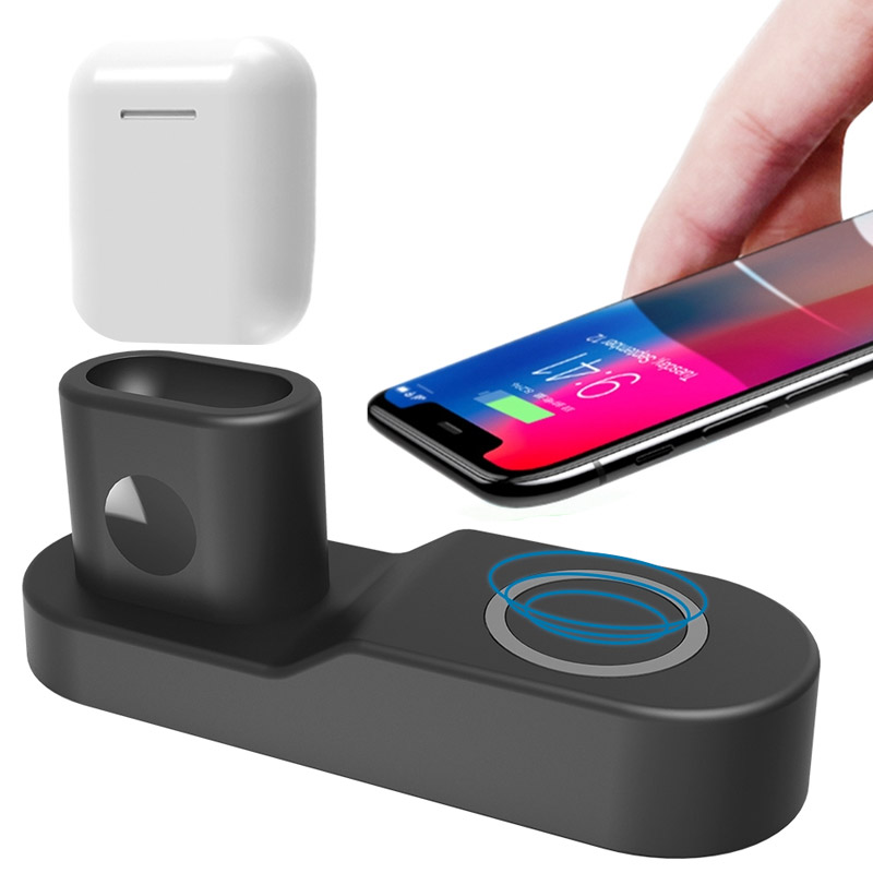 4in1 Charging Dock Station Stand For Apple Watch 4 3 2 Airpods 10W Qi Wireless Charger Pad For iPhone X XS Max XR 8 Plus Samsung4in1 Charging Dock Station Stand For Apple Watch 4 3 2 Airpods 10W Qi Wireless Charger Pad For iPhone X XS Max XR 8 Plus Samsung