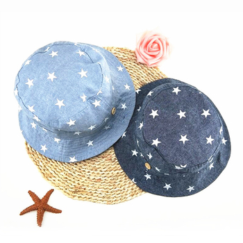 Soft Cotton Summer Baby Sun Hat Infant Boys Girls Bucket Hat Denim Cotton Toddler Kids Tractor Cap 1