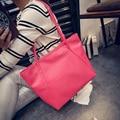 2016 Casual Style 7 Colors Crocodile Grain Large Capacity Tote Functional Shoulder Bag Black PU Leather Women Handbag