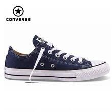 Nuevo Original Converse all star zapatos de lona hombres de las mujeres unisex zapatillas de deporte Zapatos de Skate clásico color blanco envío gratis