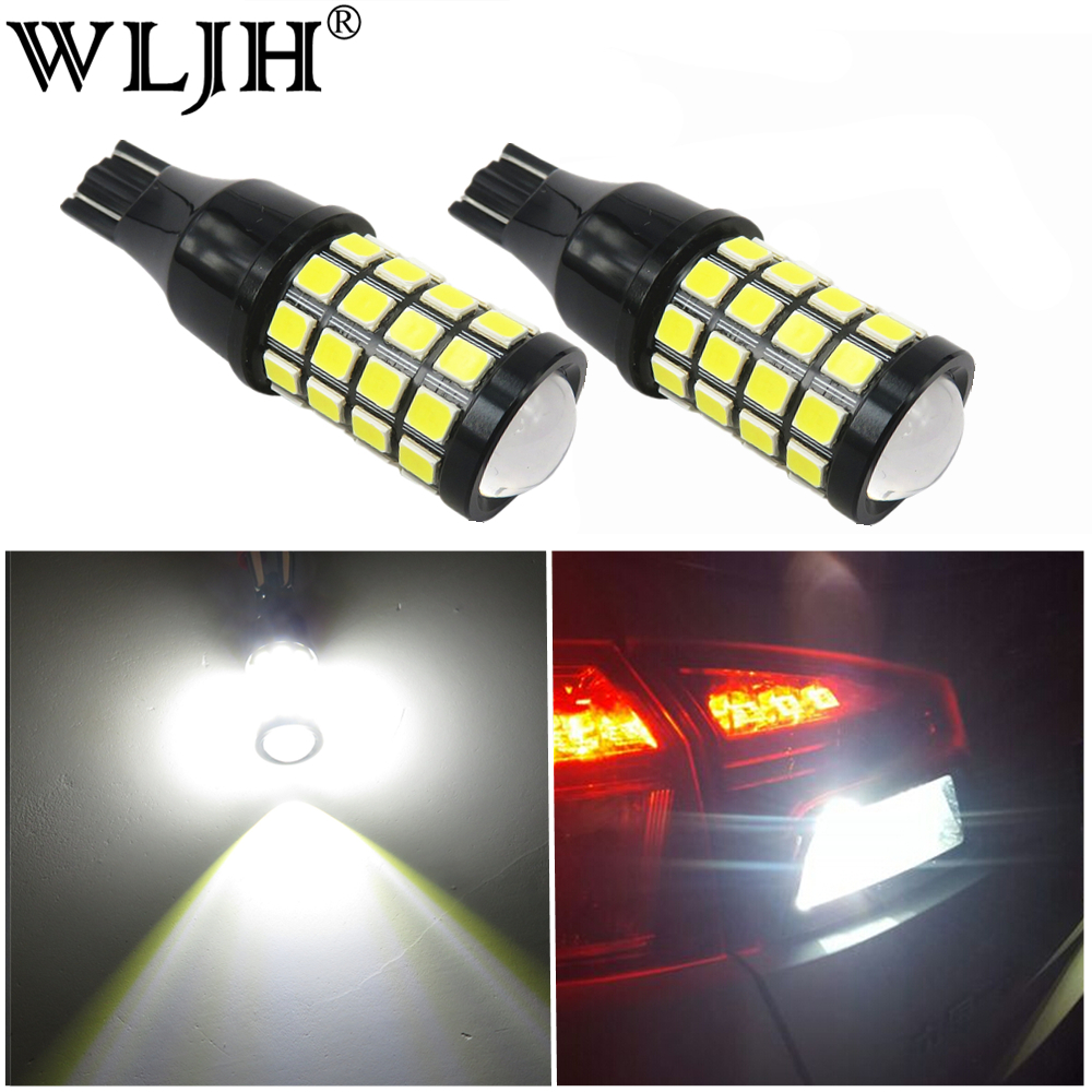 WLJH 2x Canbus 1000lm <font><b>T15</b></font> W16W <font><b>Led</b></font> Light Bulb <font><b>Car</b></font> Backup Reverse <font><b>Lamp</b></font> Signal Marker Upper Stop Light Fog <font><b>Lamp</b></font> Bulbs White 6500K image