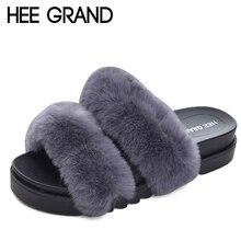 HEE GRAN Playa Zapatillas Fuera Enredaderas Zapatos de Plataforma Zapatillas Casuales de Piel Mujer Invierno Soft Pisos Resbalón de Diapositivas XWT555