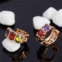 Top vente AAA Zircon boucles d'oreilles pour femmes oreille bijoux Brincos luxe or couleur boucle d'oreille mode mariage accessoires boucle d'oreille