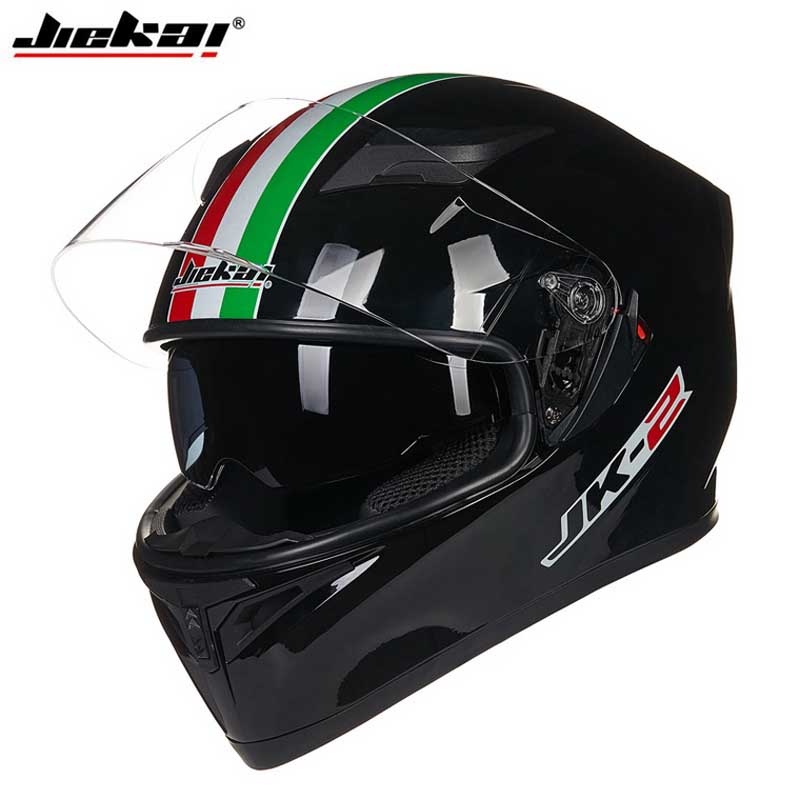 Popular Style JIEKAI JK-316 Motocross Double Lens Motorcycle Helmet, Motorbike Full Face Road Helmet M  L XL XXL