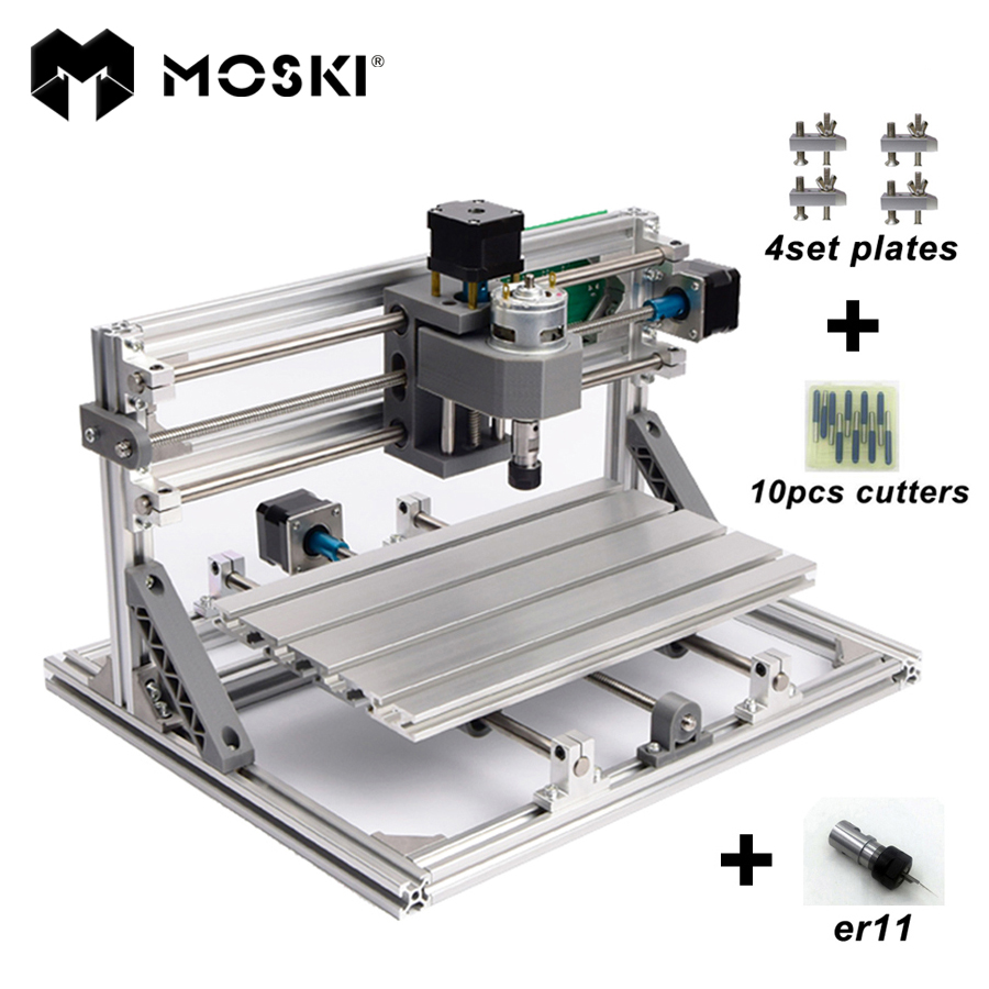 MOSKI ,CNC3018 ER11,diy cnc engraving machine,Pcb Milling Machine,wood router,laser engraving,GRBL control,cnc 3018,best toys cnc 1610 with er11 diy cnc engraving machine mini pcb milling machine wood carving machine cnc router cnc1610 best toys gifts