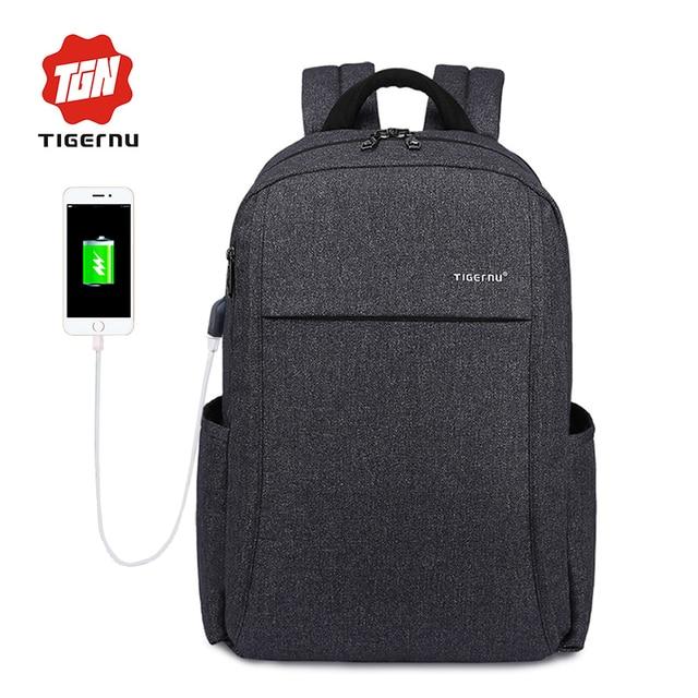 2017 Tigernu Anti-theft USB charging Men 15.6inch Laptop Backpack Women Backpack Mochila School Backpack Bag Casual Laptop Bag