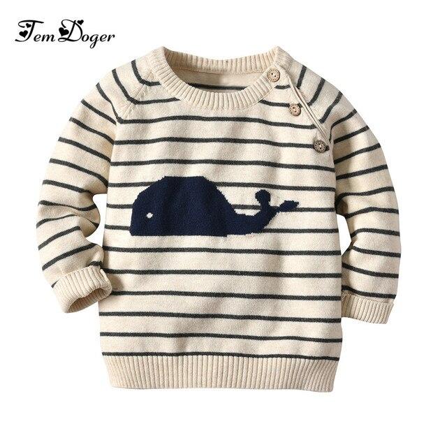 493465e5a Tem Doger Baby Sweaters Newborn Infant Boys Striped Sweater Kids ...