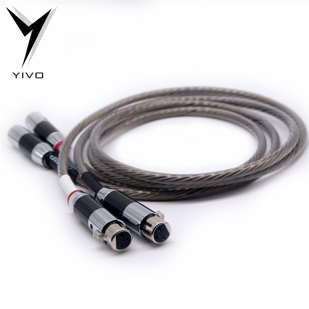 Hi-end 10 core ODIN Silver Plated Female Male XLR ODIN Cable Bulk RCA Aux Audio 3 pin xlr Mic audio coaxial cable microphone 1 piece straight 3 pin xlr male to rca female audio adapter silver high quality free shipping