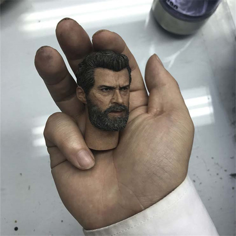 Mnotht 1/6 Wolverine 3 Logan Head Sculpt Old Wolverine Head Model For Hugh Jackman X-Men HotToys Phicen l30 1 6 scale wolverine 3 logan hugh jackman head sculpt for 12 figure hot toys male head carving soldier head model toys