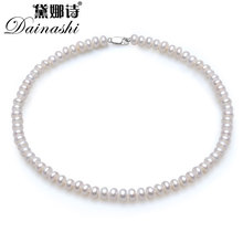 Low Price Pearl Necklace AAAA Pearl Jewelry 100% Natural Freshwater Pearl Choker Classic Necklace For Women Statement Necklace(China)