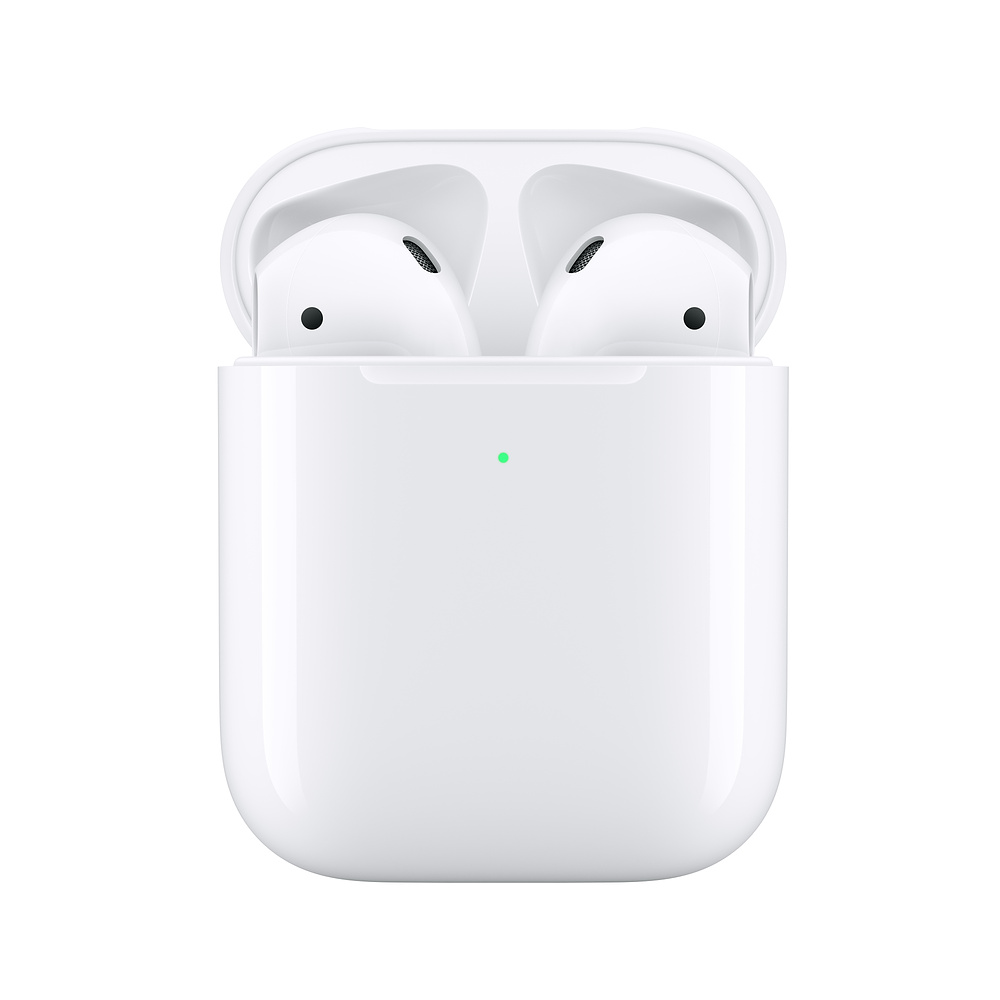 <font><b>Apple</b></font> <font><b>AirPods</b></font> 2nd with Wireless Charging Case | Wireless Earphone Bluetooth Headphone for iPhone iPad MacBook iPod <font><b>Apple</b></font> Watch image