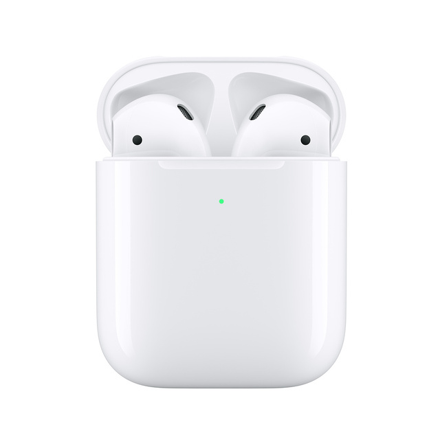 Apple AirPods 2nd z etui do ładowania bezprzewodowego | bezprzewodowe słuchawki Bluetooth słuchawka dla Iphone iPad MacBook ipoda zegarka Apple Watch