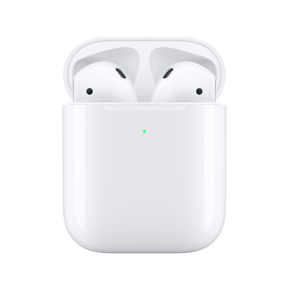 Apple airpods 2nd com caixa de carregamento sem fio | fone de ouvido sem fio bluetooth fone de ouvido para iphone ipad macbook ipod apple watch