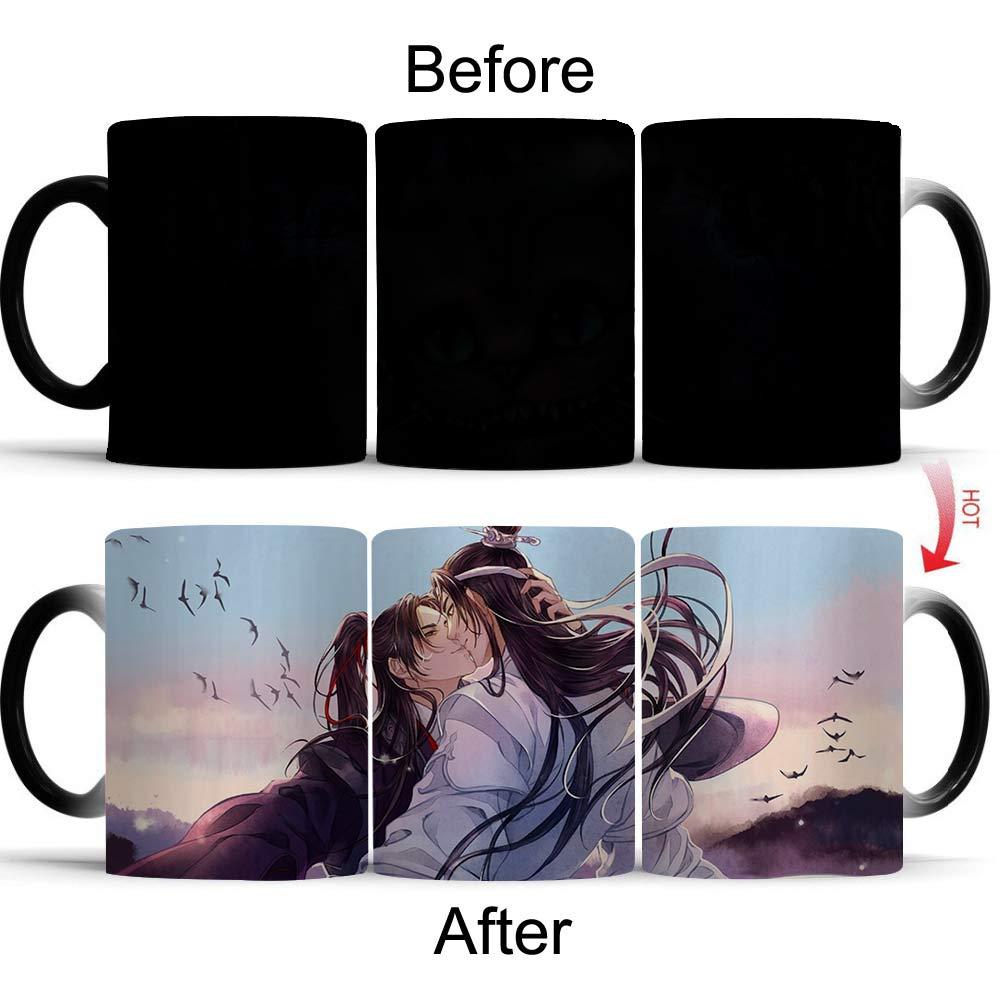 Giancomics 1Pcs Magic Mug Cup Mo Dao Zu Shi Changing Mug Heat Sensitive Coffee Color Changing Ceramic Mug Birthday Novelty Gift