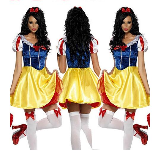 Adult princess snow queen costume women Beauty and the Beast costume cosplay halloween costumes for women Game uniform