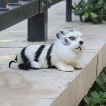 Unique Gift 17CM Long Mini Lifelike White Tiger Plush Toy
