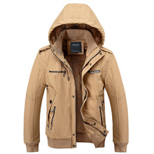 Chaquetas Hombre 2016 Thicker Cotton Washing Winter Coat Military New Jacket XXXL Fashion Casual Men's Jacket