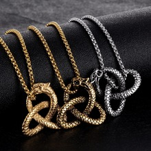 Animal Snake Knot Necklace Dragon Knot Necklace in Stainless Steel – Silver, Gold, Black