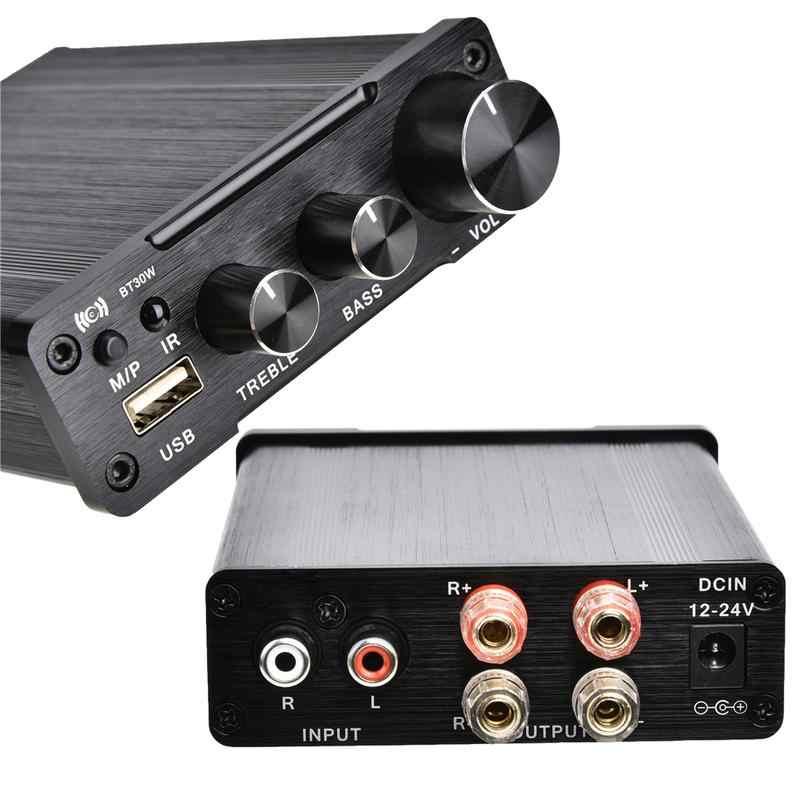 New Universal Amplifiers Speaker DC12-24V HiFi Audio Digital Amplifiers  Lossless USB Player Power Amplifier Audio Stereo 2*30W