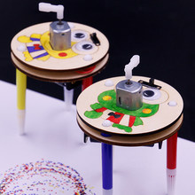 Creative DIY Early Learning Doodle Robot Technology Small Inventions Toy Kids Science Experiment Educational Toys(China)