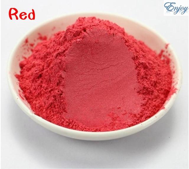 Alta calidad polvo de perla naranja rojo Mica polvo de perla en polvo pigmento nacarado 500 g/bolsa venta al por mayor Mica pigmento en polvo